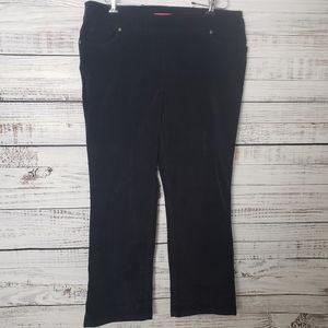 NWT Pennington Black Corduroy Pants Size 18